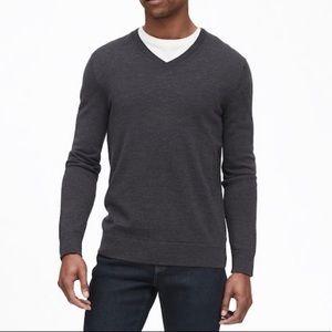 Banana Republic Grey Merino Wool Sweater sz XXL